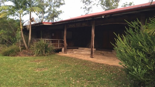Front outdoor area – Facilities at Hanging Rock Hall