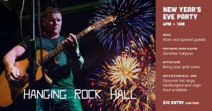 New Year's Eve Party at Hanging Rock Hall NSW