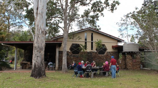 Side outdoor area –Facilities at Hanging Rock Hall