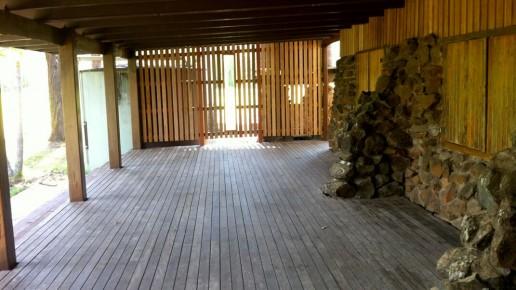 Back verandah –Facilities at Hanging Rock Hall
